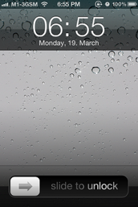iPhopne 3GS Lock Screen