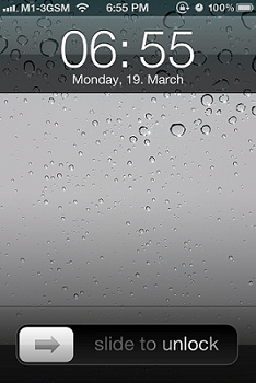IPhopne 3GS Lock Screen IPhone 5